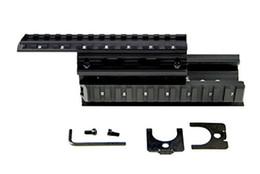 Wholesale Ak47 Rail Mount - 7.62X39 Tactical Stealth Black AK47 AK74 Handguard Rifle Quad Weaver-Picatinny Rail Mount Handguard Forend Rail System Set
