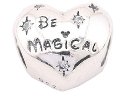 Wholesale Magical Cube - 100% Sterling Silver Charms 925 Ale Heart Star Be Magical Charms for Pandora Bracelets DIY Beads Accessories Love Gift