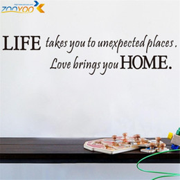 Wholesale Unexpected Quotes - life takes you to unexpected places quote wall decals zooyoo8081 decorative diy adesivo de parede removable vinyl wall stickers