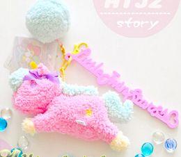 Wholesale Shipping Stuffed Bear - Wholesale-free shipping Orignal Little twin star stuffed plush pendant unicorn pendant toy animal horse keychain bear pendants
