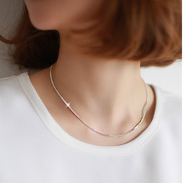 2019 moda jewerly chokers 2016 Nova Moda Cadeia Cobra Gargantilhas Colares de Prata Esterlina 925 adies Gargantilhas presente do valentim mulheres Jewerly moda jewerly chokers barato