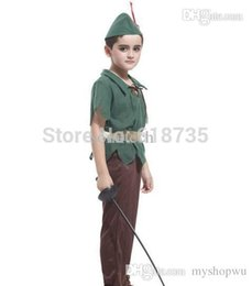 Wholesale Cosplay Free Shipping Europe - Wholesale-2015 Free shipping cosplay costumes halloween Europe children costumes Peter Pan Costume for kdis CXCC-6094