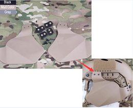 Wholesale Emerson Helmet Cover - Emerson Airsoft Military Tactical Climbing FAST Helmet Side Cover For Helmet Rail Helmet Accessory Accessories Mens Black DE FG order<$18no