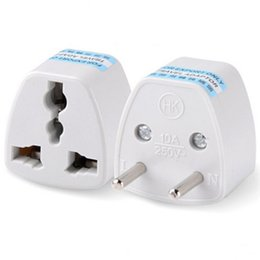 Wholesale Euro Adapter Plug - Universal UK US AU CN to EU Adapter Euro Travel Charger Adapter AC Power Plug Converter Free DHL