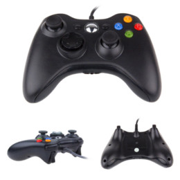 Wholesale Official Microsoft Controller - Black Color Controller For XBOX 360 Wired Joystick For Official Microsoft XBOX Game Controller joystick xbox