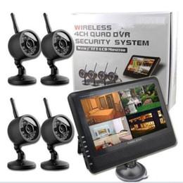 DHL бесплатно 7 дюймов TFT камеры аудио детские видео монитор 2.4 г беспроводные камеры mga Беспроводной Wi-Fi 4ch Quad главная система безопасности 4 цифровые камеры от