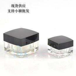Wholesale Wholesale Buy Bottles - buy 100pcs 5g acrylic small black square bottle ,eye cream plastic 5 g mini jar of high-end cosmetics bottles wholesale