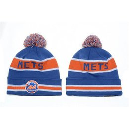 Wholesale Cheap Wholesale Sports Beanies - Mets Beanies 2014 Hot Beanie Hats Fashion Baseball Knitted Hats Best Quality Winter Hats Cool Sports Beanies Cheap Pom Beanies