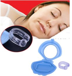 Wholesale Anti Snoring Devices - 12pcs Hot Sell Anti-Snoring Silicon Free Nose Clip Snore Stop Stopper Device Health Sleep Anti Snoring Free Shipping