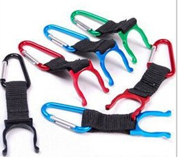 Wholesale Water Bottles Clips - Fast DHL Free shipping 200pcs Locking Carabiner Clip Water Bottle Buckle Holder Camping Snap hook clip-on Clicp on