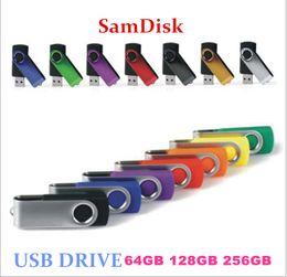 Wholesale Swivel 256gb - usb drive 64GB 128GB 256GB USB 2.0 Plastic Swivel USB Flash Drives Pen Drives Memory Stick U Disk Swivel USB Sticks iOS Windows Android