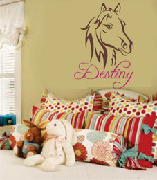 Wholesale Wall Decals Horses - Horse Pretty Pony Wall Decal Personalize Name for Girls Room Decor