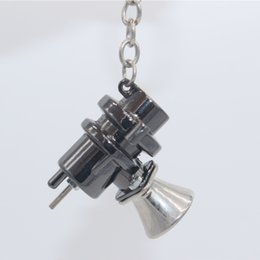 Wholesale Auto Blow Sale - The most distinctive horn keychain Creative BOV Keychain Hot Sale Blow Off Valve Auto Parts Accessories Key Chain Ring Key Fob Keyring