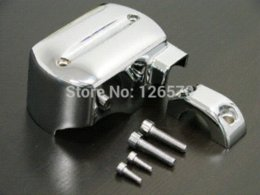 Wholesale V Star Chrome - FREE SHIPPING CHROME BRAKE MASTER CYLINDER COVERFOR 98-13 YAMAHA V-STAR XVS 650 950 1100 1300 cylinder cake