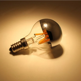 Wholesale e27 clear bulb - LED g45 shadowless bulb filament light bulbs E27 E14 4W edison vintage retro bulb AC85-265V warm white cool white