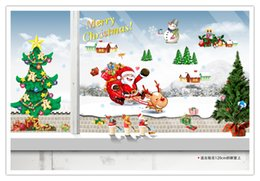 Wholesale Wall Sticke - 2015 hot The Santa Claus Wall Sticke Christmas Wall Sticke Mural Wallpaper for Room Decal free ship