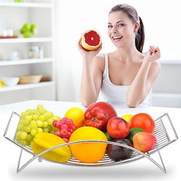 Frigorifero da cucina online-All'ingrosso-Nifty Fruit Rack Kitchen Holder Basket Storage Bowl Stand Organizer Decor Nuovo