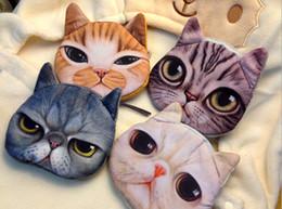 Wholesale Wholesale Clutch Change Purse - Women's Fashion Clutch Purses Coin Purse Bag Wallet Cute Cat Change Purse 5pcs lot JIA275