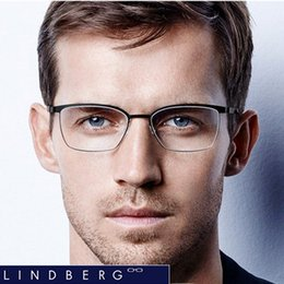 Wholesale Black Light Alloy - Free shipping NEW!!!Lindberg 9572 glasses frame of mirror men women spectacle frames plank frame light spectacle frame eyeglasses frame