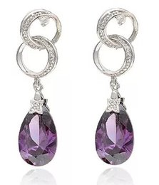 Wholesale Earings Color Diamond - more color diamond stone jewelry lady's earings (3*1cm) (myyhmz)