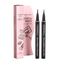 Wholesale Pencil Products - Professional Women Makeup Product Waterproof Brown 7 Days Eye Brow Eyebrow Tattoo Pen Liner Long Lasting Makeup Women Gifts