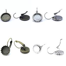 Wholesale Hook Brass Earring - Beadnice earring findings bezel earrings cabochon base earring with round blanks earring hook supplies accessories for jewelry ID 32227