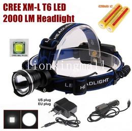 roter cree led scheinwerfer Rabatt AloneFire HP87 Cree XM-L T6 LED Zoom Scheinwerfer Scheinwerfer Mit 2 x18650 Akku / Ladegerät / Auto-Ladegerät-schwarz, blau, rot