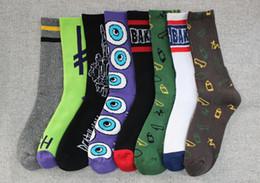 Wholesale Men Women Underwear Wholesale - Personality harajuku terry socks stockings fashion men women sports socks underwear football socks colorful gifts