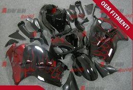 Wholesale Injection Molding Hayabusa - Black with red flame Injection molding custom painted fairing Suzuki Hayabusa GSX1300R 97-07 191