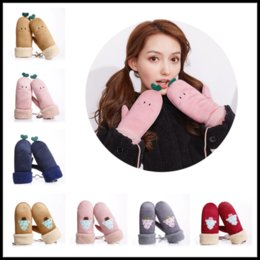 Wholesale White Leather Mittens - Free Shipping Soft Female Winter Warm Mittens Girls 14 Colors Artificial Deerskin Leather Gloves Fashion Windproof Antifreeze Gloves