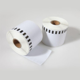 Wholesale Dk Labels - 2 x Rolls Brother DK 22205 2205 Compatible Labels 62mm x 30.48m Label Printer QL 570 580 700 720 1050 1060