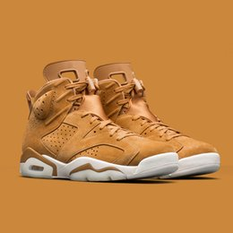 Wholesale Outdoor Basketball Ball - New 6 wheat Men's Basketball Shoes 2018 Hot Sale Men Sneakers 6s High Quality Basket ball Shoe Sports outdoor athletics sneaker size 40-47