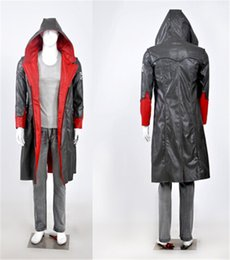 Wholesale New Dante Cosplay - New Game Cosplay Custome For DMC 5 Devil May Cry Dante cosplay Jacket coat Super Cool Cloth For Halloween Party