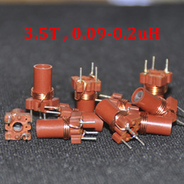 Wholesale Inductor Core - 10pcs Adjustable Inductor 0.09uh 0.20uh 90nH 200nH 3.5 Turns High Frequency Variable Ferrite Core Inductor coil 3.5T 25-100MHZ
