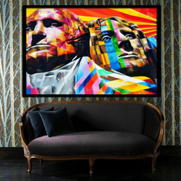 Wholesale Presidents Pictures - Hot Sell Modern Wall Painting The President Abstract Pop Oil Paintings Art Canvas Home Decorative Oil Picture On Canvas Pure han