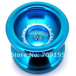 Wholesale T6 Yoyo - Wholesale-Free shipping Magic yoyo T6 New (Super bow), 2011 Advanced Aluminum T6 High quality aluminum alloy Metal YoYo ball with 10pcs