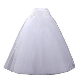 2017 Nouvelles Femmes Blanc Une Ligne-Hoopless Petticoat Crinoline Jupe Sous-Vêtements De Mariage Accessoires Longueur De Plancher Pas personnalisé Livraison gratuite 0222 ? partir de fabricateur
