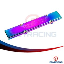 Wholesale Sparks Plugs - PQY STORE-NEO Chrome Engine spark Plug Cover Wire Cover For Honda's B-series(B16 18)VTEC engines PQY-YXG11NC