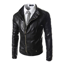 Wholesale Big Coats For Men - Fall-Autumn Winter Soft PU Leather Clothing Men Leather Jackets Imitation sheepskin Male Business casual Coats For Man Big Size PY038