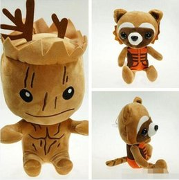 Wholesale Guardian Tree - 80pcs High Quality 22-25cm Guardians plush doll Tree people groot rocket raccoon plush toys Children's gift for Christmas