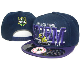 Wholesale Cheap Sports Teams Snapback Hats - Cheap men NRL Melbourne Storm team caps retail sport baseball hats Man snapback hats outdoor sports NRL hats all teams snapback hats DD