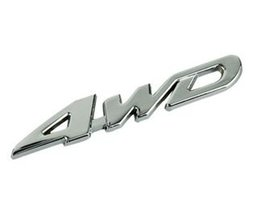 Wholesale 4wd Stickers - Metal Chrome 4WD Displacement Emblem Badge All Wheel Drive Auto sticker,Free shipping