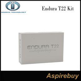 Innokin starter en Ligne-100% d'origine Innokin Endura T22 Starter Kit construit en 2000mAh batterie Box Mod Kit Vaporisateur avec réservoir Prism T22