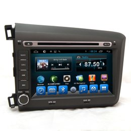 Wholesale Capacitive Touchscreen Android Car Gps - Android car stereo capacitive touchscreen car dvd cd player with gps radio navigation system fit for Honda Civic 2015 Left