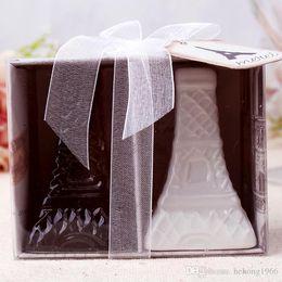 Wholesale Salt Pepper Shaker Wedding Gift - Eiffel Tower Jar Salt And Pepper Ceramic Seasoning Bottle For Wedding Souvenirs Creative Gifts Black And White 5yk C