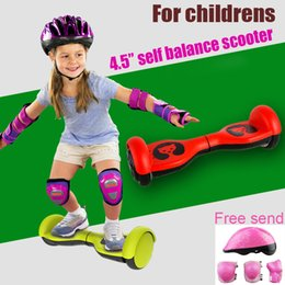 Wholesale Small Bear Gifts - 2 wheel Self Balancing electric small Scooters 4.5 Inch Hoverboad Cartoon Bear Scooters for Children Gift Kids Skateboard child hoverboard