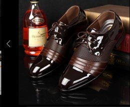 Wholesale Formal Dresses Office - Men Dress Shoes 2017 Leather Men Shoes Luxury Brand Mens Dress Formal Shoes Breathable Elegant For Men