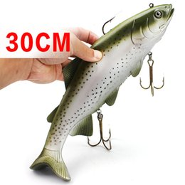 Wholesale Deep Fishing Lures - Deep Sea Fishing Big Fish Artificial Lure 20cm 135g 30cm 400g Ocean Boat Catch Grey Dot Soft Bait