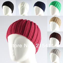 Wholesale Head Covers Beanies - Wholesale-New Fashion Women's Plain Headband Headwrap No Top Hat Head Ear Warmer Cover
