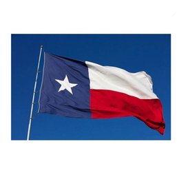 Wholesale Usa Flag Stripes - USA Texas State Flag For Outdoor Decorate 90*150 Sewn Stripes Embroidered Stars American Banner Holiday Articles 7wy C R